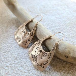 Boho Handmade Gold Dangle Earrings
